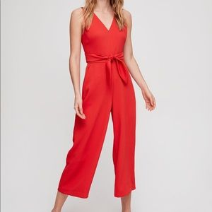 Wilfred, Écoulement V Jumpsuit in Red